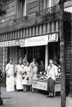 Paris 1938-Boucherie Dewerse av de Versailles 16eme.