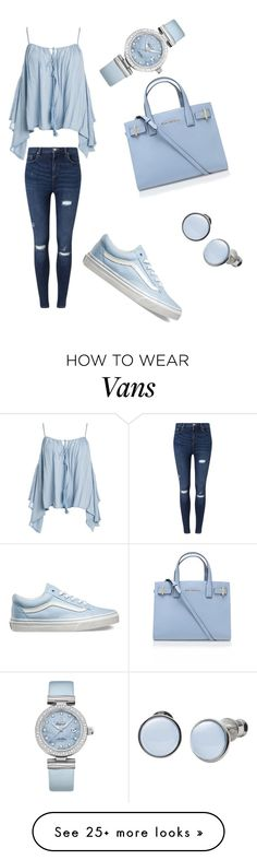 """Untitled #14"" by alvarengak on Polyvore featuring Sans Souci, Miss Selfridge, Vans, OMEGA, Kurt Geiger and Skagen"