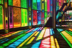 coloured glass walls - Google Search
