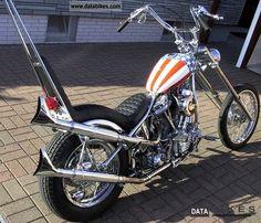 """1948 Harley Davidson  Panhead Chopper """"Captain America"""" Nachbau."""