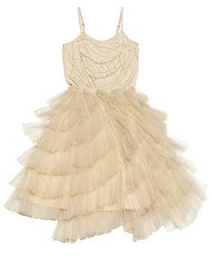 Tutu Du Monde To The Nines Tutu Dress In Bisque || Igloo Kids Clothing