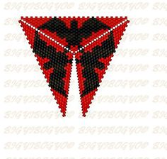 SCHEMAT/BEADING/PEYOTE Bigyibogyó: Denevéres peyote háromszög