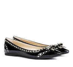 Pretty flats with stud and bow details