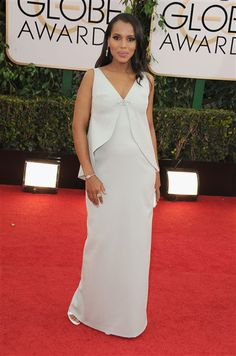 Kerry Washington attends the 71st annual Golden Globe Awards held at The Beverly Hilton Hotel in Beverly Hills, Calif., on Jan. 12, 2014.