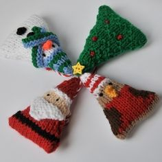 Christmas tree ornaments knitting pattern pdf £2.50