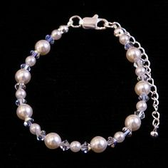 Bridal Jewellery, Wedding Jewelry, Freshwater Pearl Bracelet, Wedding Bracelet, Crystal Wedding, Strand Bracelet, Swarovski Pearls, Wedding Hair Accessories, Crystal Bracelets