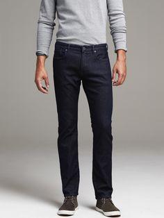 Slim Dark Rinse Japanese Traveler Jeans | Banana Republic