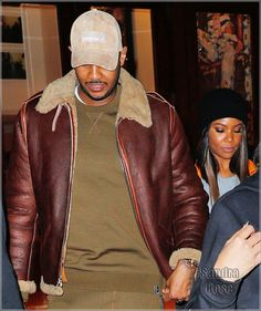 Carmelo Anthony, Gabrielle Union in New York City