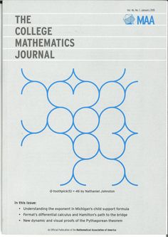 College mathematics journal, The. Vol. 46, nº 1, january, 2015