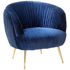 Diana Armchair In Blue Soft Or Black Soft Velvet ($2,329) ❤ liked on Polyvore featuring home, furniture, chairs, accent chairs, chair, blue, seating, armchairs, velvet accent chair and blue arm chair
