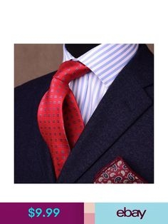 66ac92c1dd899 Fashionable Red Blue Diamond Matrix Circle Boss Encircle Pattern Woven Neck  Tie in Clothing
