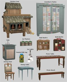 Country Livin' - Veranka – country livin – lots of cute farm theme items - The Sims 4 Pc, Sims 4 Mm, My Sims, Sims 4 Challenges, Muebles Sims 4 Cc, Sims 4 Pets, Sims Medieval, Sims 3 Mods, Sims4 Clothes