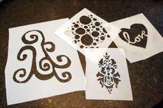 Come realizzare degli stencil fai da te per decorare casa