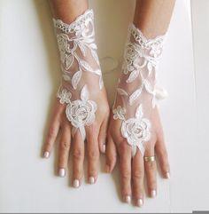 ivory Wedding Glove ivory lace gloves Fingerless by GlovesByJana, $25.00