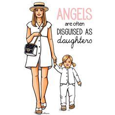 Прелестные мама с дочкой #girlsinbloom #illistration #fashionillustration #mom #daughter #cute #dochkimateri #art_fashion #kids #child #chanel #дочкиматери #иллюстрация