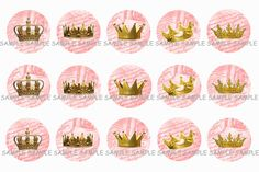 INSTANT DOWNLOAD...Gold Royal Crowns.... 1 by VampCandyDesigns, $1.75