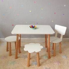 Kids Table And Chairs, Kid Table, Dining Table, Everything Baby, Architecture Design, Bedroom Decor, Woodworking, Interior Design, Baby Room