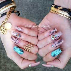 40 Awesome Boho Nail Art Ötletek szépít a körmök