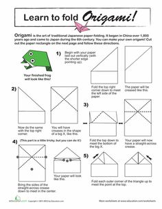 Learn to Fold an Origami Frog!