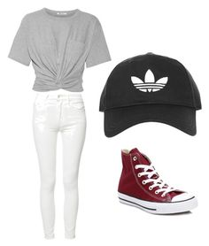 """""""Stroll in the city"""" by lois-lynnn ❤ liked on Polyvore featuring Mother, T By Alexander Wang, Converse and Topshop"""