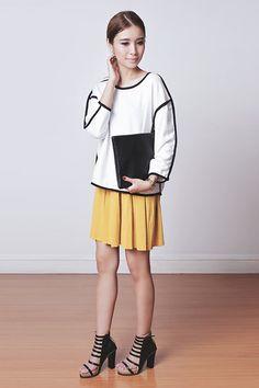 Tricia Gosingtian - Young Hungry Free Top, Young Hungry Free Skirt, Kate Katy Heels, Kate Katy Bag - 021715-2