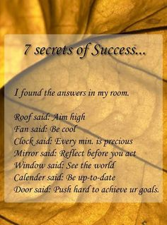 7 secrets to success from your own room