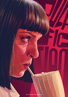 Pulp Fiction | fan art | by Flore Maquin
