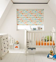 Custom made BLACKOUT ROLLER BLIND - Elephants pastel fabric baby nursery - matching Wall Art also available.  Free Uk mainland delivery by TyneBlinds on Etsy