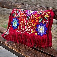 Shop unique, award-winning Artisan treasures by NOVICA, the Impact Marketplace. Each original piece goes through a certification process to guarantee best value and premium quality. Heart Crafts, Fringe Bags, Red Handbag, Indian Wedding Photography, Sewing Clothes, Flower Prints, Jewelry Gifts, Purses And Bags, Embroidery