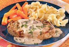 Creamy Mustard Pork Chops - This quick-fix, one-skillet dish fits right into your busy schedule.  It's so easy to make and the results are absolutely delicious.