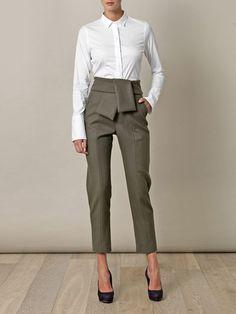 Balenciaga kimono belt felt trousers