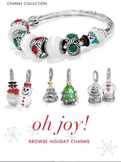 Brighton Holiday Charms, Beads and Jewelry available at Blue Bumble Bee...we ship simply call 205-426-9330