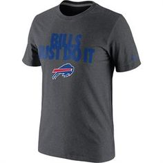 This Nike Grey Buffalo Bills T-Shirt is sure to be one of the most popular items of the season. Just Do It. #Bills