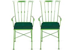 Green Midcentury Metal Chairs, Pair on OneKingsLane.com  Would be cool to mix with a different table
