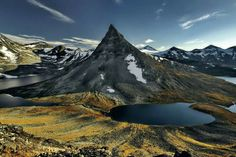Kyrkja Mountain in Norway.