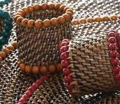 Woven Beaded Napkin Ring