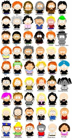 Harry Potter characters by Emily Bob