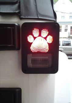 JEEP WRANGLER JK DECORATIVE DOG PAW METAL TAIL LIGHT COVERS GUARDS- - ugh I don't have a Jk! !!