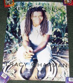 "TRACY CHAPMAN *NEW BEGINNINGS* ELEKTRA RECORDS ALBUM PROMO POSTER 20X27"" PB5 D"