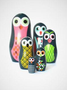 Pocket Matroschka Owls