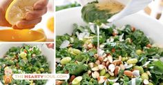 Image of Coconut Detox Salad with Crushed Almonds, Lemon Marinated Kale and…