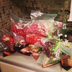 freezer cooking (2hr, 14 meals) Some of these can be divided in half for me as there are only 2 of us now at home....