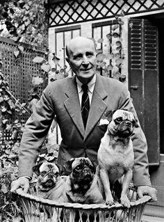 """Prince Felix Felixovich Yusupov with his pet Pugs.  """"AL"""""""