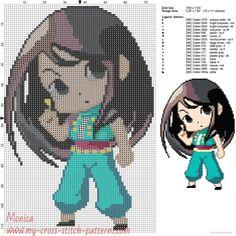 Illumi (Hunter x Hunter) cross stitch pattern