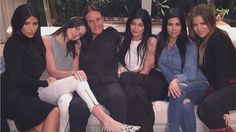 The Kardashian-Jenner daughters rallied around Bruce Jenner in a show of support following a magazine cover poking fun at the former Olympian.
