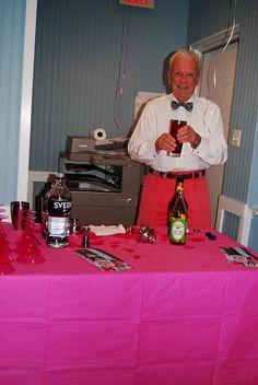 Bartender Dennis  Pink Beach Girls Night Out Monmouth Beach office