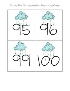 Here's a spring-themed number sequencing activity. Students sequence two-digit numbers up to 100 using six different number sequences. Recording sheet included.