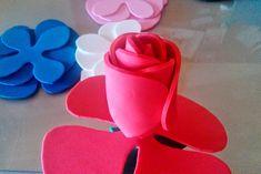 Ideas que mejoran tu vida Origami, Flower Template, Flower Making, Diy And Crafts, Baby Shower, Projects, Handmade, Gabriel, Julissa