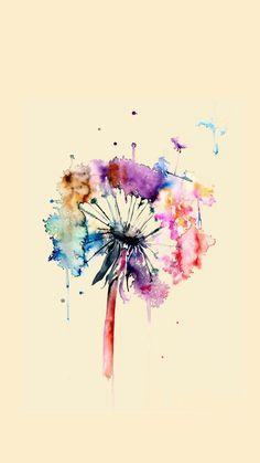 """Képtalálat a következőre: """"watercolor dandelion tattoo"""""""