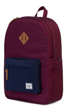 ecb6a486c6 Herschel Heritage Backpack 600D Poly University Windsor Wine 10007-01575-OS Herschel  Heritage Backpack